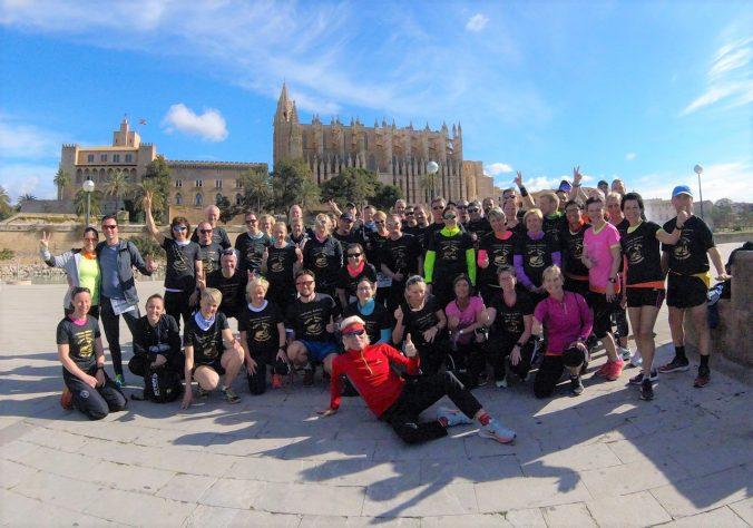 Gruppenfoto Laufcamp Björn Grass Mallorca 2018